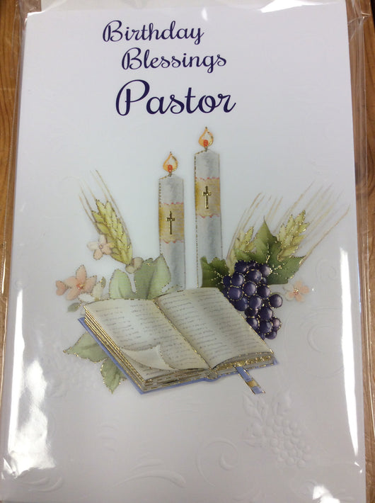 Greetings of Faith - Birthday Blessings Pastor - Greeting Cards