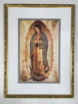 Our Lady of Guadalupe - framed gold-embellished print