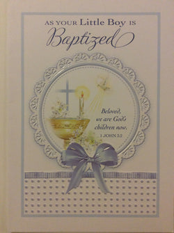 Greetings of Faith - As Your Little Boy is Baptized - Greeting Card