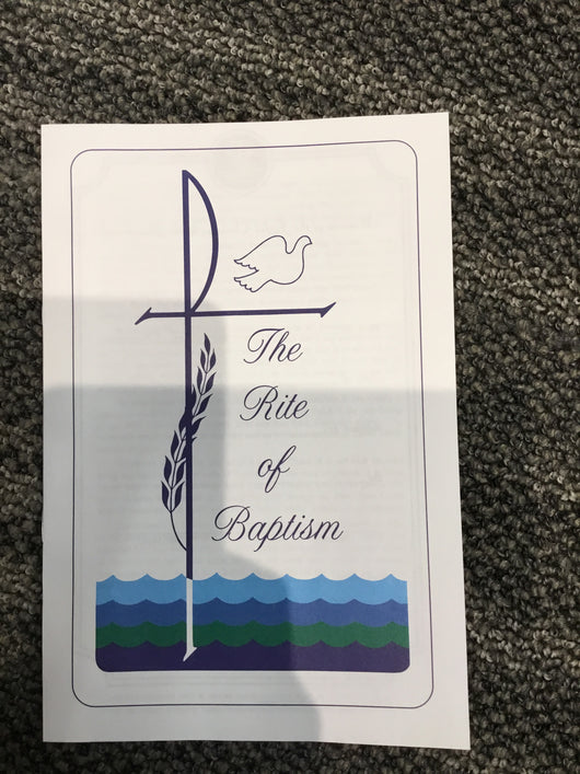 The Rite of Baptism - pamphlet