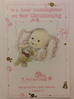 Mainzer - To a Dear Goddaughter on Her Christening - Greeting Card