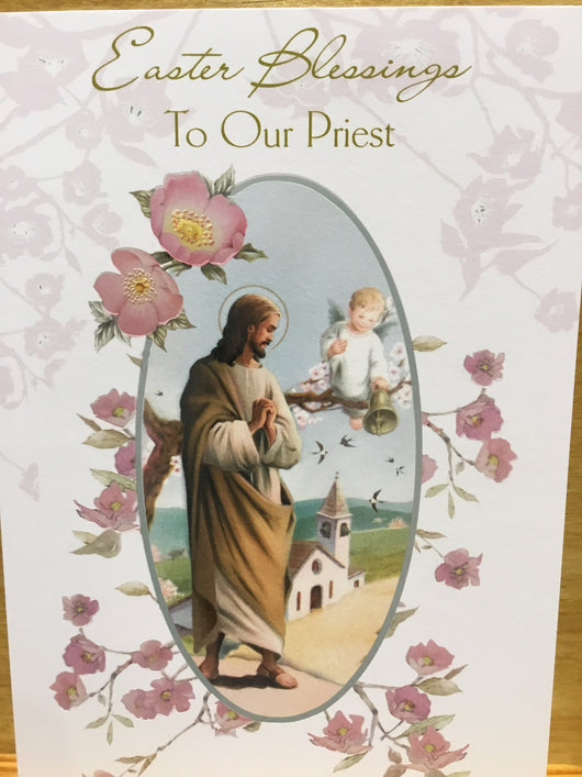 Greeting Card - Easter Blessings To  Our Priest