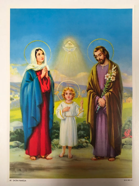 Holy Family with the Holy Trinity - print