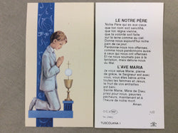 1st Communion Boy French Cardboard Prayer Card