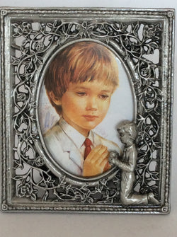 OCI Pewter Photo Frame for Boy First Communion