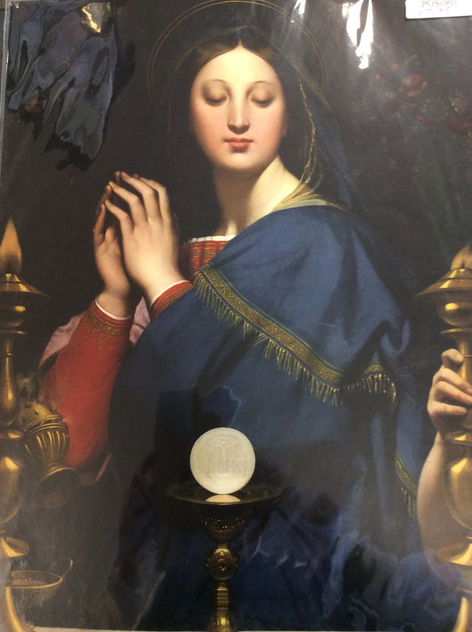 Poster of Mary and the Eucharist