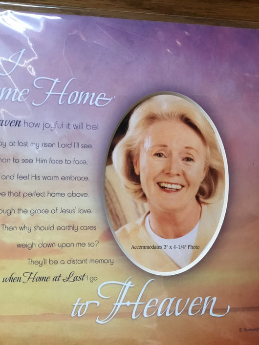When I Come Home to Heaven - Memorial photo mat