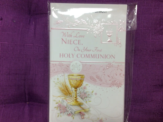 With love Niece, on Your First Holy Communion