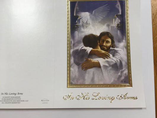 Mass Card - In His loving Arms - BOX