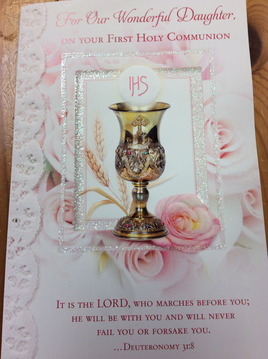 For Our Wonderful Daughter On Your First Holy Communion