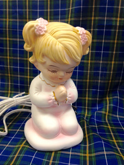 OCI Praying Girl Night Light Statue