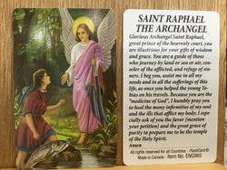 Archangel Raphael Prayer to  Prayer Card -