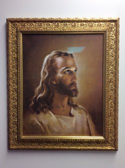 Portrait of Jesus by Warner Sallman - framed glossy textured print