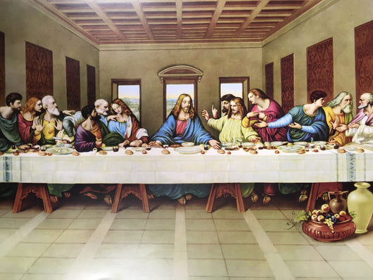 Last Supper - glossy textured print