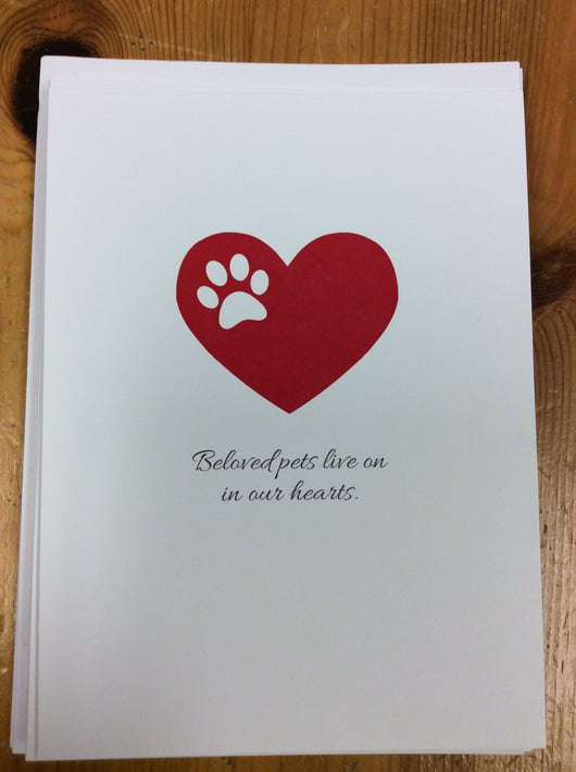 Loss of Pet - Sympathy card