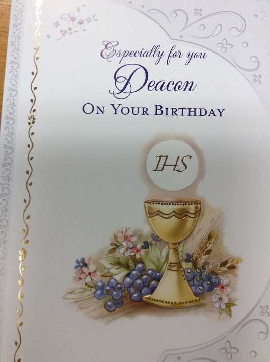 Greetings of Faith - Deacon on Your Birthday  Greeting Card