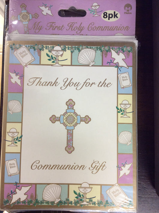 My First Holy Communion Thank You Card Set (8 PK)