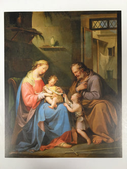 Mary, Joseph, Baby Jesus, and John the Baptist - print
