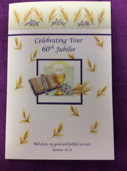 Greetings of Faith - Celebrating Your 60th Jubilee  Greeting Card