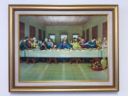 Last Supper - framed glossy textured print
