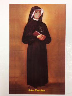 Saint Faustina painted - print