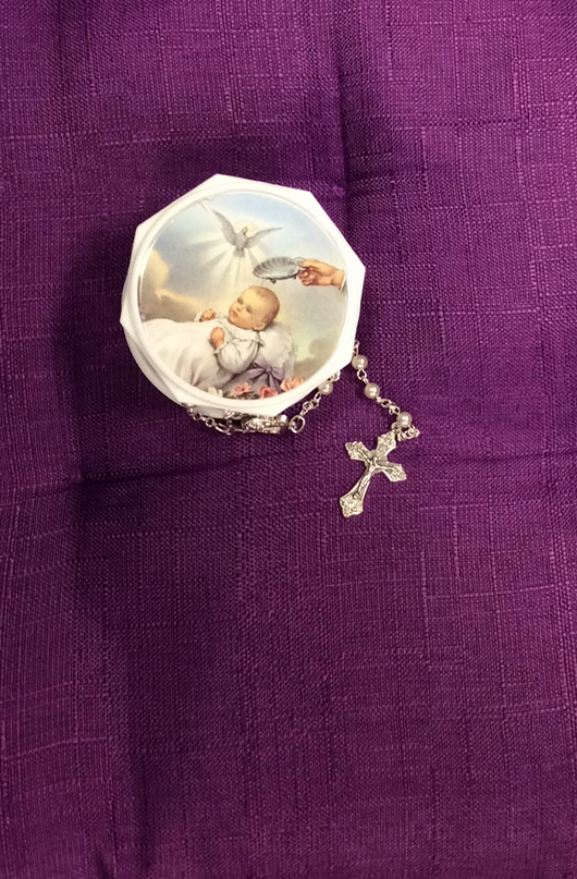 Babys First Rosary - White
