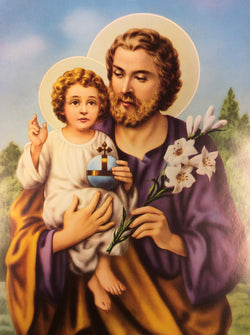 Saint Joseph with Jesus - print