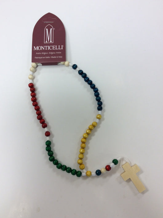 Rosary - multicoloured wood