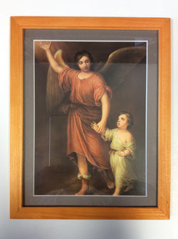 Guardian Angel with a Child - framed print