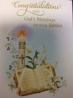 Congratulations and God's Blessings on your Jubilee