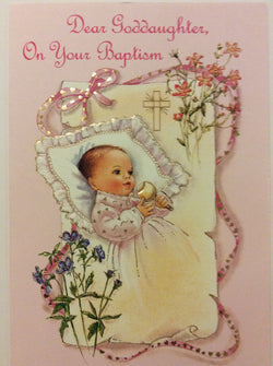 Mainzer - Dear Goddaughter On Your Baptism - Greeting Card