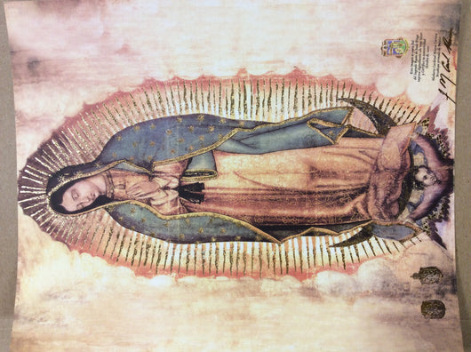 Our Lady of Guadalupe glowing litograph