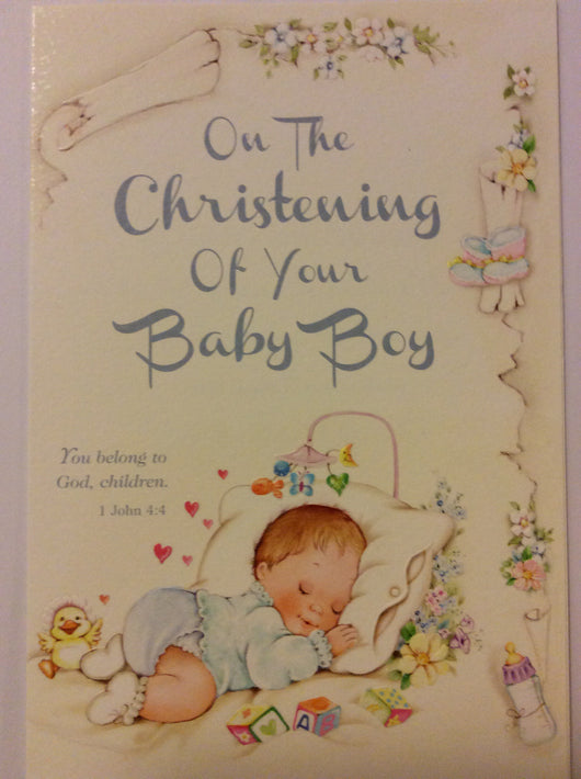 On the Christening of Your Baby Boy