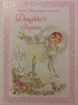 Greetings of Faith - God's Blessings on Your Daughter's Baptism