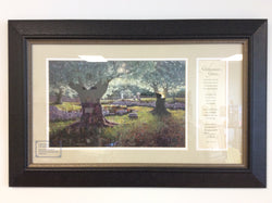 Gethsemane Grove - framed print with a poem