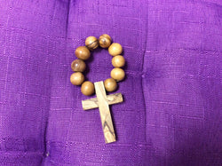 Olivewood Single Decade Finger Rosary