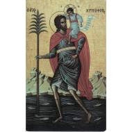 St. Christopher  Troparion  Icon  Prayer Card