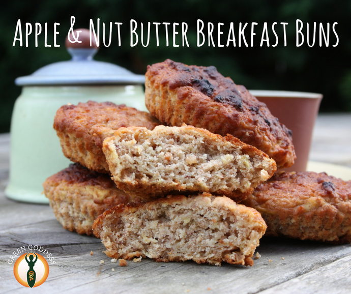 Apple & nut butter breakfast buns