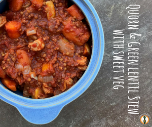 Quorn & green lentil stew with sweet veg