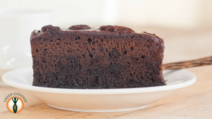 Sticky Chocolate Cake (no butter or added sugar)