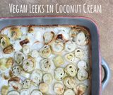 Leeks in coconut cream
