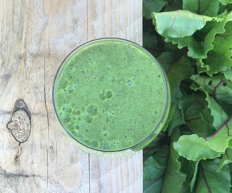 Green leaves smoothie