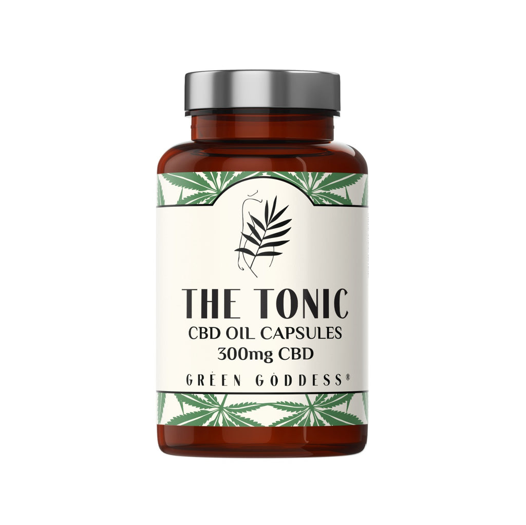 The Tonic CBD Oil Capsules 5mg - Green Goddess