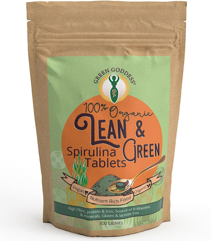Lean & Green Organic Spirulina Tablets - Green Goddess