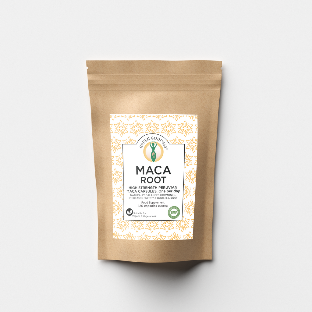 Maca Root 2500mg 120 Vegan Capsules - Green Goddess