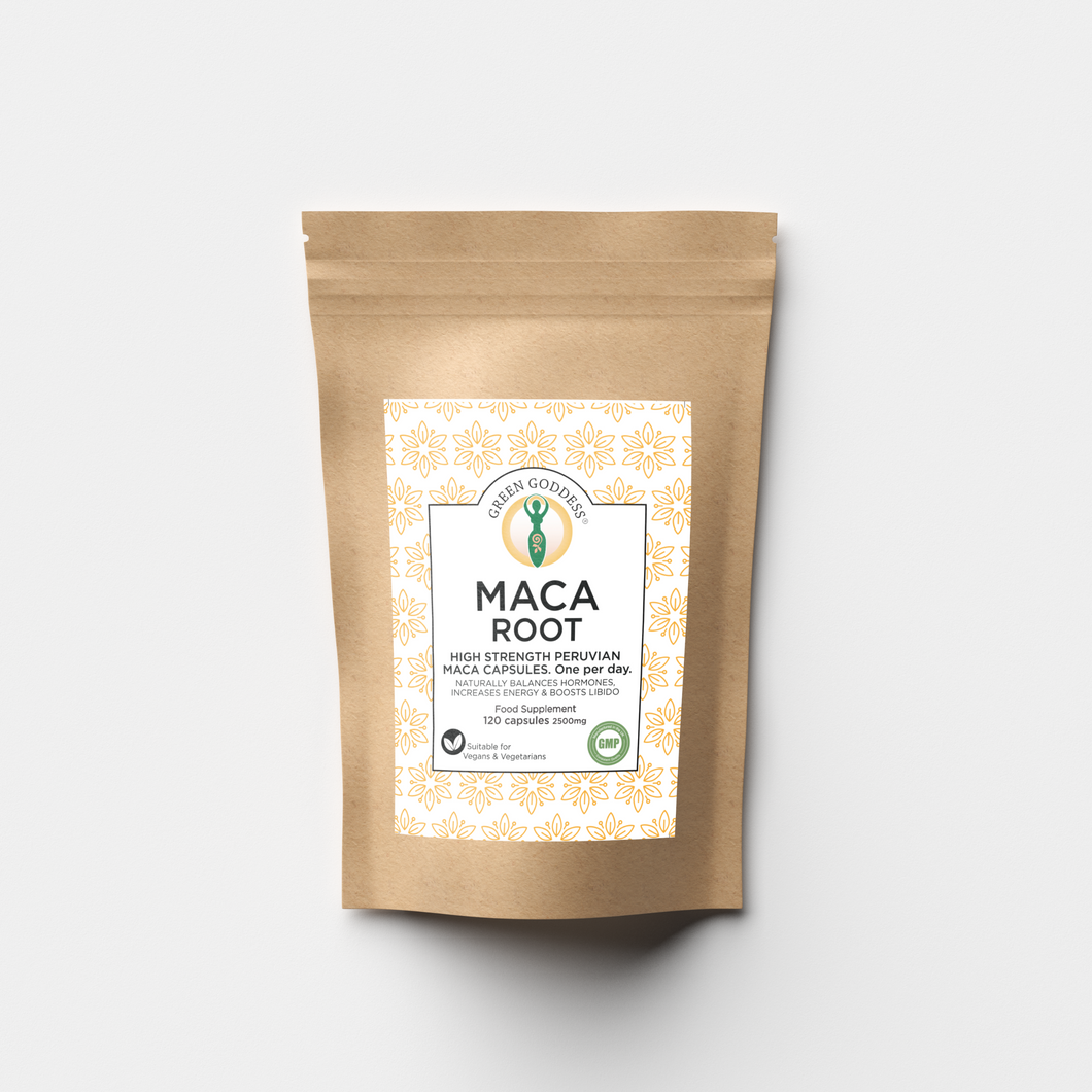 Maca Root 2500mg 120 Vegan Capsules