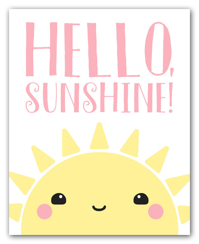 Kawaii Sunshine Art Print