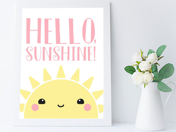 Kawaii Sun Nursery Wall Art Print