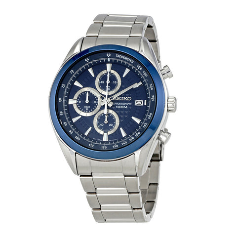 Mens Seiko Quartz Chronograph Watch SSB177P1