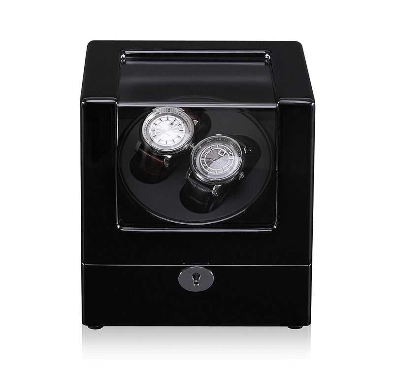 Dual Watch Winder (No' 105) Black Gloss Black Interior